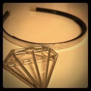 Hair accessories gem barrette and silver headband